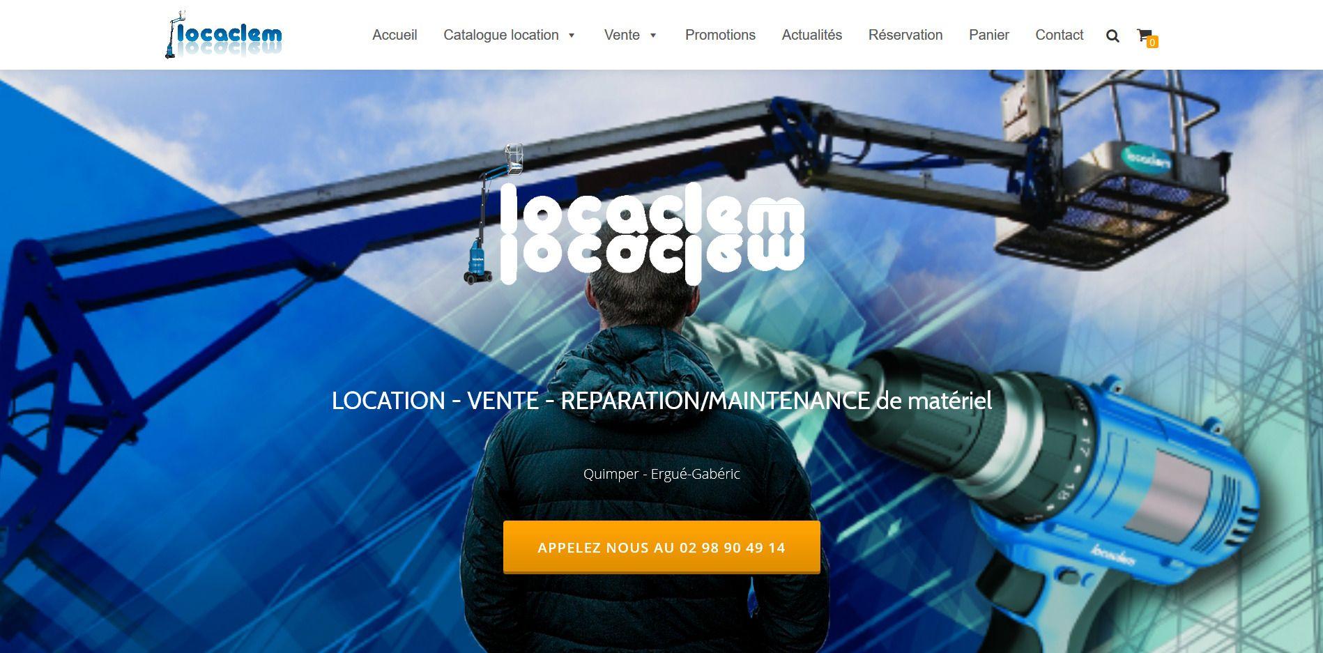 83b75978b69 Site catalogue avec réservation en ligne. Création et référencement ...