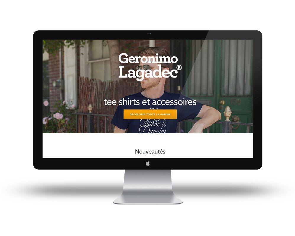 création site e-commerce geronimo lagadec à Brest Guipavas par Agence Mauve