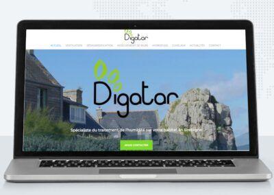 Réalisation du site web vitrine de Digatar à Landerneau