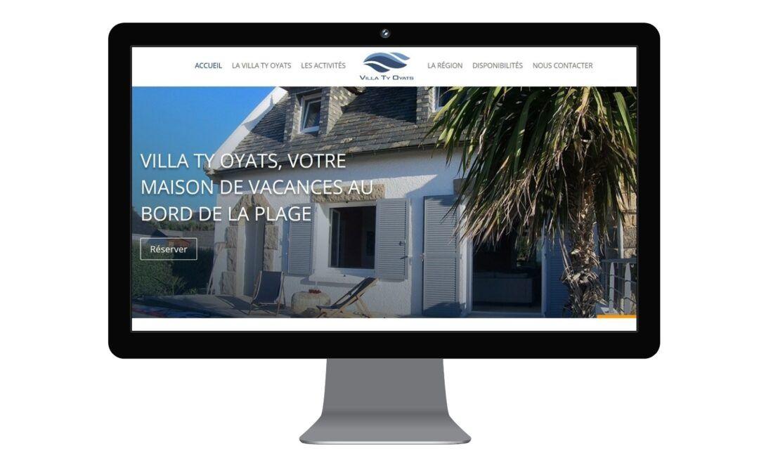 Creation du site web de la Villa Ty Oyats location de vacances en Bretagne