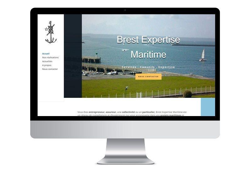 Réalisation site internet Brest Expertise Maritime