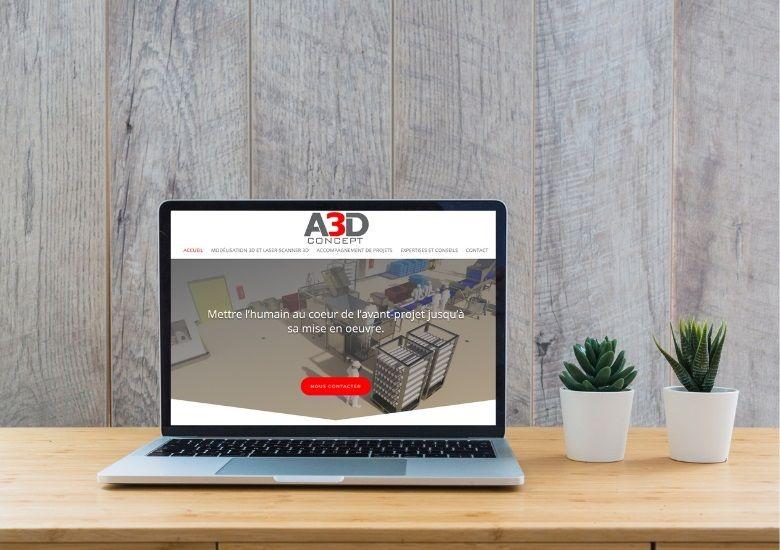 A3dConcept Chateaulin site web par Agence Mauve