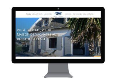 Création du site web de la Villa Ty Oyats, location de vacances en Bretagne