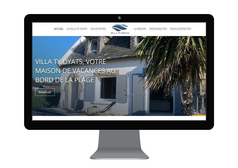 agence mauve création site web location saisonnière Finistère
