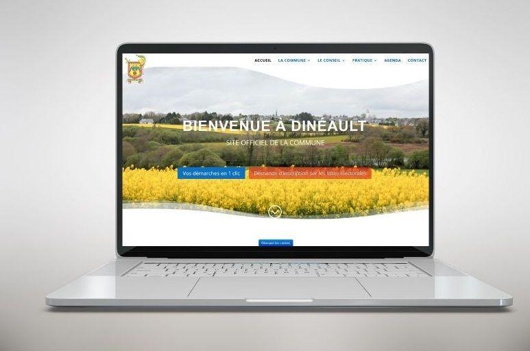 Réalisation du site web de la Mairie de Dineault