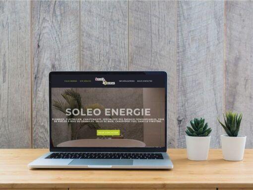 Site internet de Soleo Energie au Faou