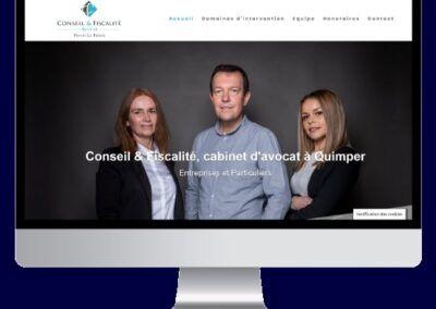 Site vitrine Conseil&Fiscalité, avocat fiscaliste à Quimper