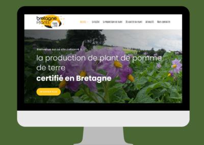 Refonte du site internet de Bretagne Plants à Hanvec