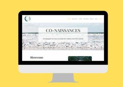 Création du site internet de co-naissances à Brest