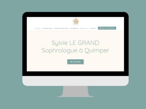 Création du site web de Sylvie Le Grand, sophrologue à Quimper