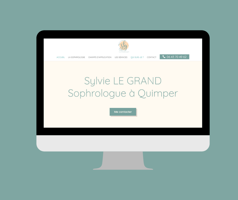 site web de sophrologue à Quimper en Bretagne